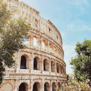 Karo-art Schilderij - Colosseum Rome, 3 maten, premium print