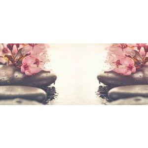 Karo-art Schilderij -Kersenbloesem en Zen, 2 maten, wanddecoratie, premium print