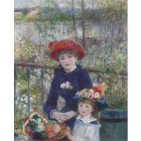 Karo-art Schilderij - Pierre-Auguste Renoir - Two Sisters (On the Terrace),  80x100cm