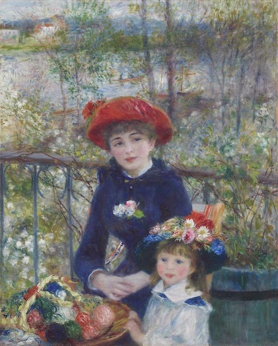 -14% SALE | Schilderij - Pierre-Auguste Renoir - Two Sisters (On the Terrace),  80x100cm -  1 luik