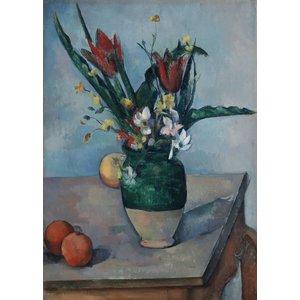 Karo-art Schilderij - Paul Cézanne - Vaas met tulpen, ca. 1890, 70x100cm