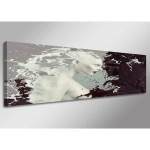 Schilderij - Abstract, 120x40cm.  Incl haakjes om op te hangen