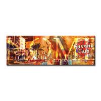 Schilderij - HOME, Havanna club,   120x40cm.  Incl haakjes om op te hangen