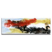 Schilderij - Abstract in kleuren,   120x40cm.  Incl haakjes om op te hangen