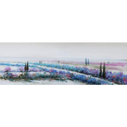 Schilderij - Handgeschilderd - Adembenemend landschap, 150x60cm
