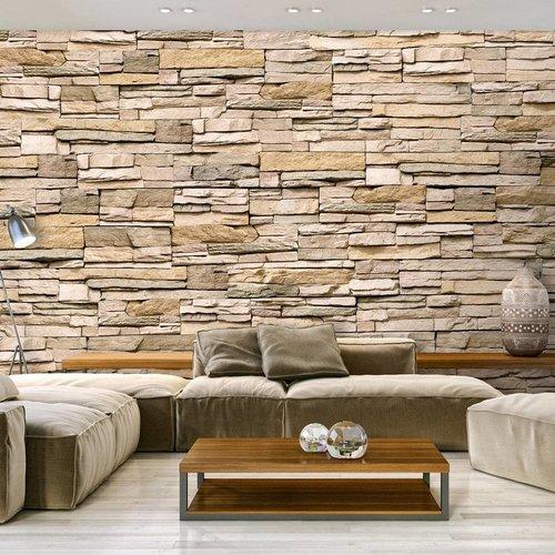 Fotobehang - Decoratieve Stenen muur , 400x280cm