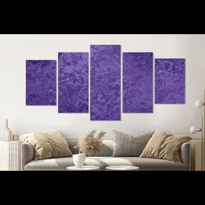 Karo-art Schilderij -Paars structuur,    5 luik, 200x100cm, Premium print