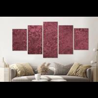 Karo-art Schilderij -Roze textuur,    5 luik, 200x100cm, Wanddecoratie
