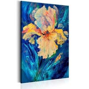 Schilderij - Mooie Iris (print van schilderij) , 60x90cm