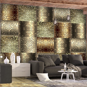 Fotobehang -Metalen platen , 400x280cm