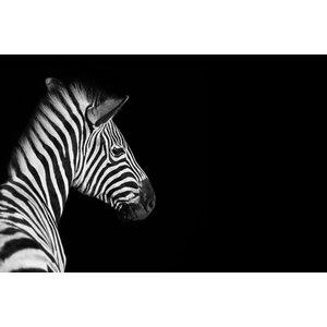 Karo-art Schilderij - Zebra zwart/wit, 2 maten, premium print