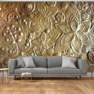 Fotobehang - Gouden muur , 300x210cm