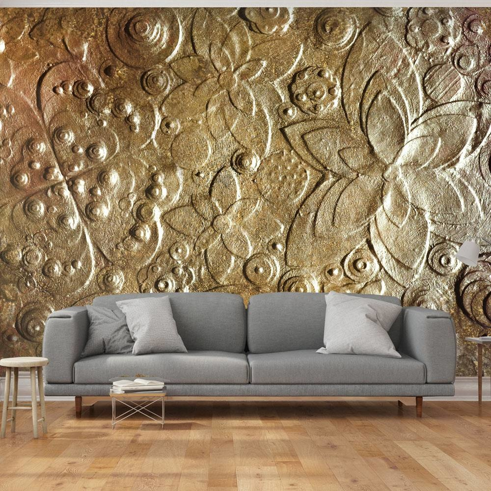 -32% SALE   Fotobehang - Gouden muur , 300x210cm
