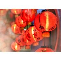 Karo-art Schilderij - Chinese Lantaarns, 100x70cm. Premium print