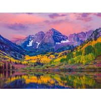 Karo-art Schilderij - Kleurrijk Aspen, Colorado USA, 100x70cm. Premium print