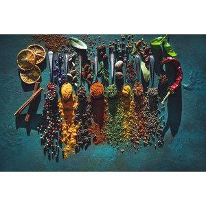 Karo-art Schilderij -Kruiden en Specerijen, 2 maten, Wanddecoratie