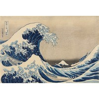 Karo-art Schilderij - Golf van Kanagawa, 2 maten, Premium print