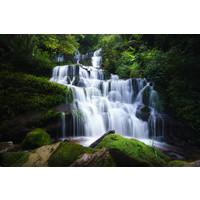 Karo-art Schilderij -Spectaculaire Waterval, 100x70cm, premium print, wanddecoratie