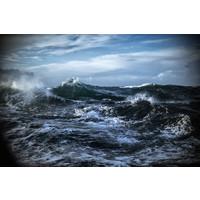 Karo-art Schilderij -Woeste Noordzee, 2 maten. premium print, wanddecoratie