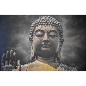 Karo-art Schilderij -Boeddha, de Verlichting, 100x70cm. premium print