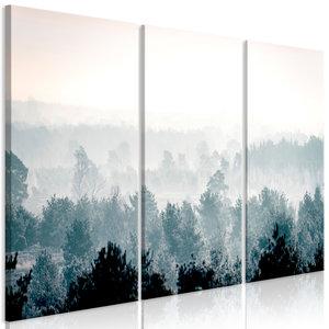 Schilderij - Bos in de winter, 3 luik , 120x80cm