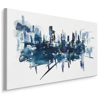 Schilderij - Moderne abstracte kunst , Wanddecoratie , Premium print