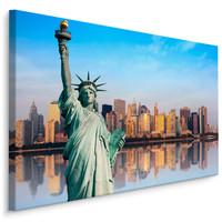 Schilderij - Vrijheidsbeeld van New York , Wanddecoratie , Premium print