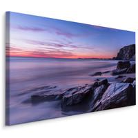 Schilderij -  Watergate Bay in Engeland  , Wanddecoratie , Premium print