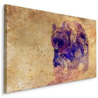 Schilderij -  Woeste Beer  , Wanddecoratie , Premium print