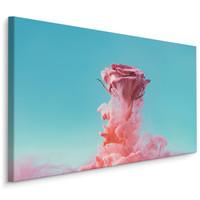 Schilderij - Roos vanuit de rook, eycatcher aan de wand, premium print