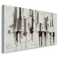 Schilderij - Pilaren, prachtig abstract schilderij, print op canvas