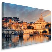 Schilderij - Sint-Pietersbasiliek in Rome, Italië , premium print
