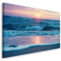 Schilderij - Zee in pastel kleuren, premium print
