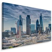 Schilderij - Skyline van Londen, blauw/grijs, wanddecoratie