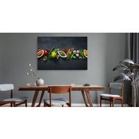 Schilderij - Oosterse kruiden en specerijen, multi-gekleurd, premium print