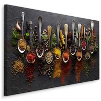 Schilderij - Specerijen, multi-gekleurd, wanddecoratie