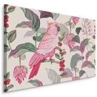 Schilderij - Tropische roze papegaai, 4 maten, scherp geprijsd, wanddecoratie