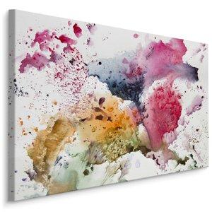 Schilderij -abstractie aquarel, 4 maten, hoge kwaliteit canvas scherp geprijsd