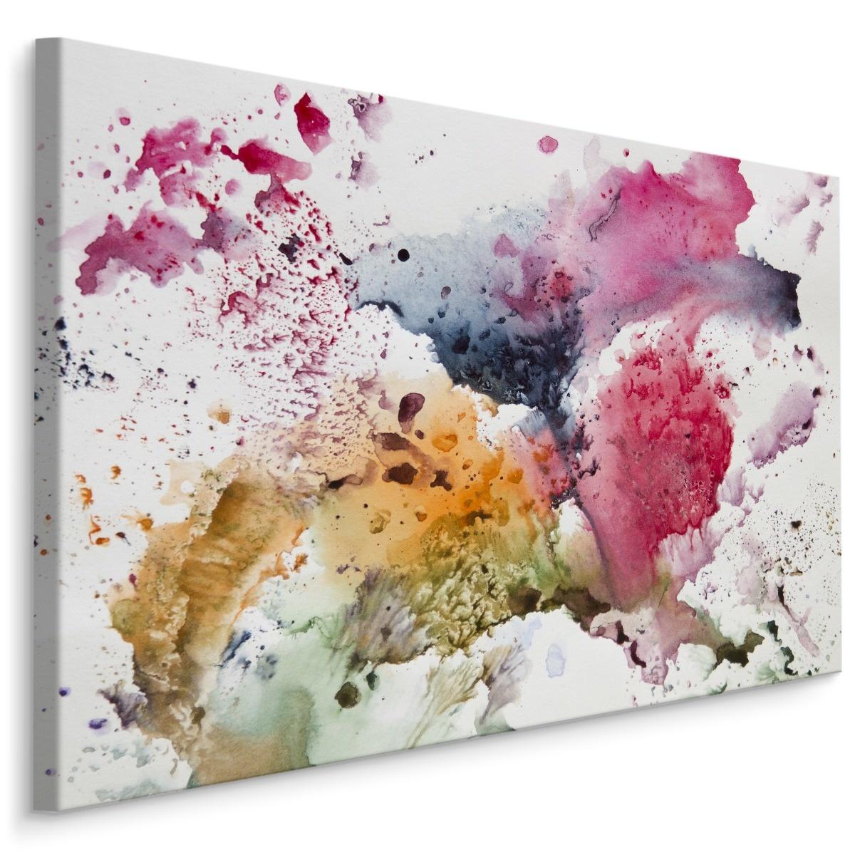 Schilderij -abstractie aquarel, 4 maten, hoge kwaliteit canvas scherp geprijsd -  1 luik - 90x60 cm