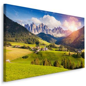 Schilderij - Prachtig berglandschap, 4 maten, hoge kwaliteit voor een scherpe prijs