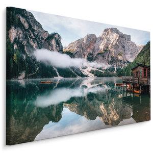 Schilderij - Lago di Baies, Italië, 4 maten, Premium print, wanddecoratie