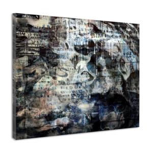 Karo-art Schilderij - Abstract met mystieke symbolen, premium print, wanddecoratie