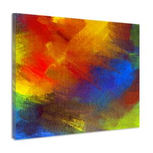 Karo-art Schilderij - Abstracte achtergrond, acryl, premium print op canvas