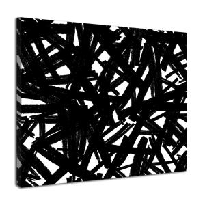 Karo-art Schilderij - Zwarte potloodvegen, premium print, wanddecoratie