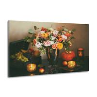 Karo-art Schilderij -Stilleven Herfst, 100x70cm, wanddecoratie, premium print