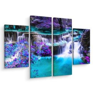 Schilderij - Huay Mae Khamin waterval, Thailand, 3 luik, premium print