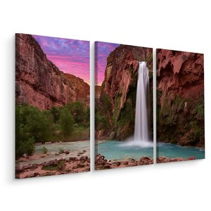Schilderij - Havasupai waterval, USA, 3 luik, premium print