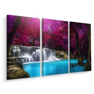 Doboxa Schilderij - Kanchanaburi waterval Thailand, 3 luik, premium print