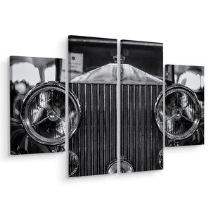 Schilderij - Rolls Royce close up, 4 luik, premium print