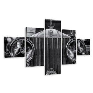 Schilderij - Rolls Royce close up, 5 luik, premium print